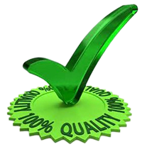 Green Checkmark 100% Quality